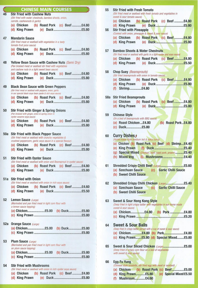 bamboo garden take away menu gorleston on sea chinese take away delivery