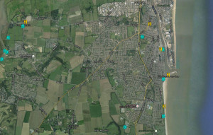 dogs gorleston map routes walks