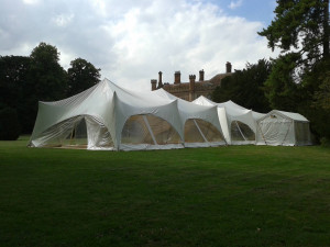 double capri catering tent marquee ketteringham hall