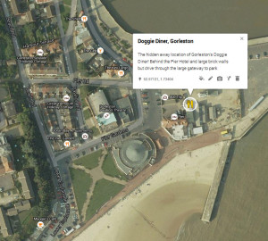 doggie diner gorleston doggy map location directions where is it found