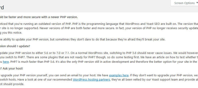 You should update your PHP version to either 5.6 or to 7.0 or 7.1 using cPanel wordpress