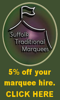 suffolk traditional marquees 5% discount offer pomotion banner