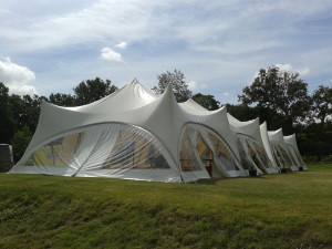 trapeze marquees double joined weddings parties tents hiring