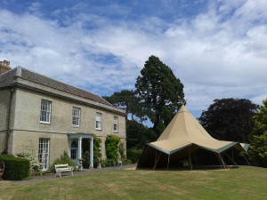 West Lexham Manor Barn wedding venue teepee tents marquees