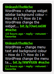 wordpress twitter widget remove username avatar image background icon